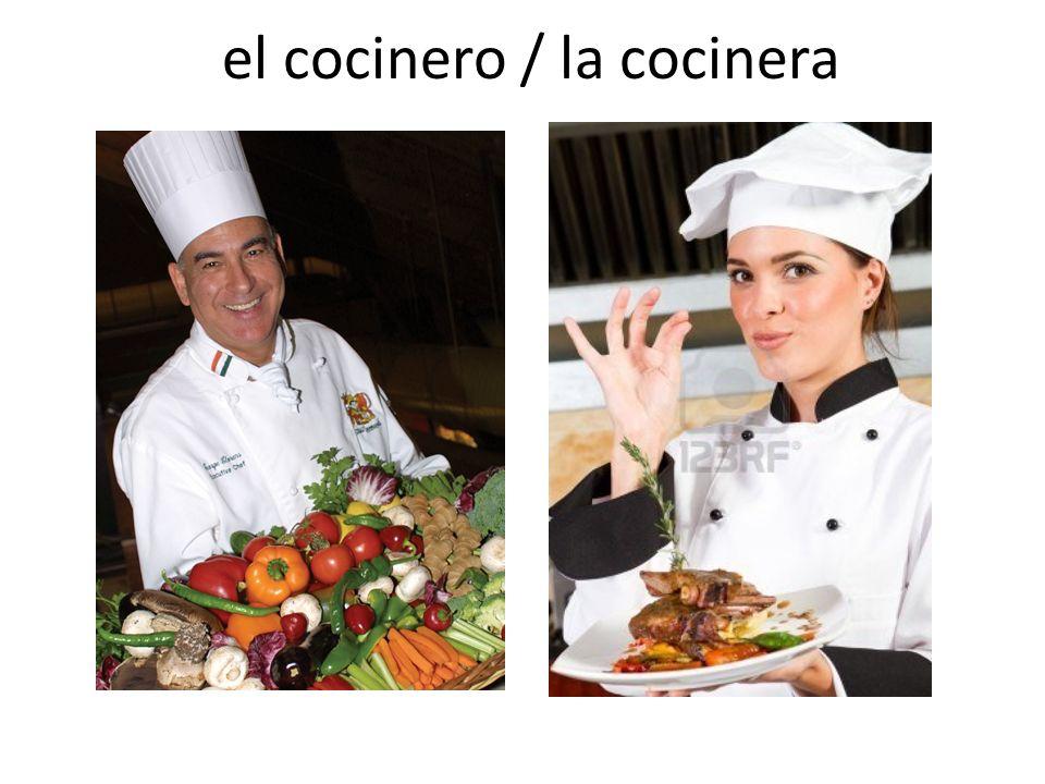 el cocinero / la cocinera