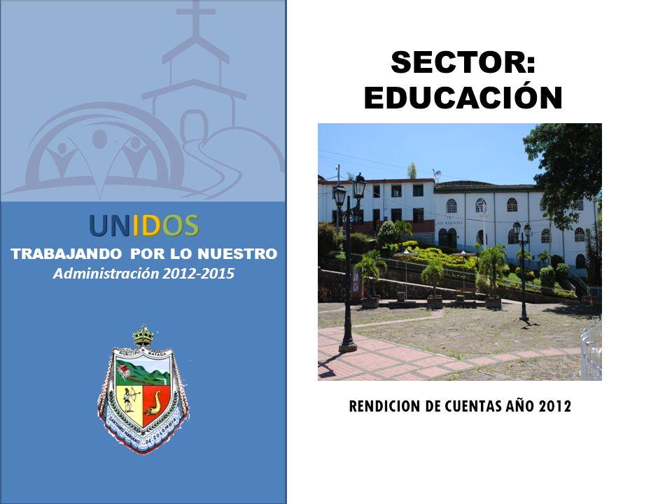 RENDICION DE CUENTAS AÑO 2012 SECTOR: EDUCACIÓN