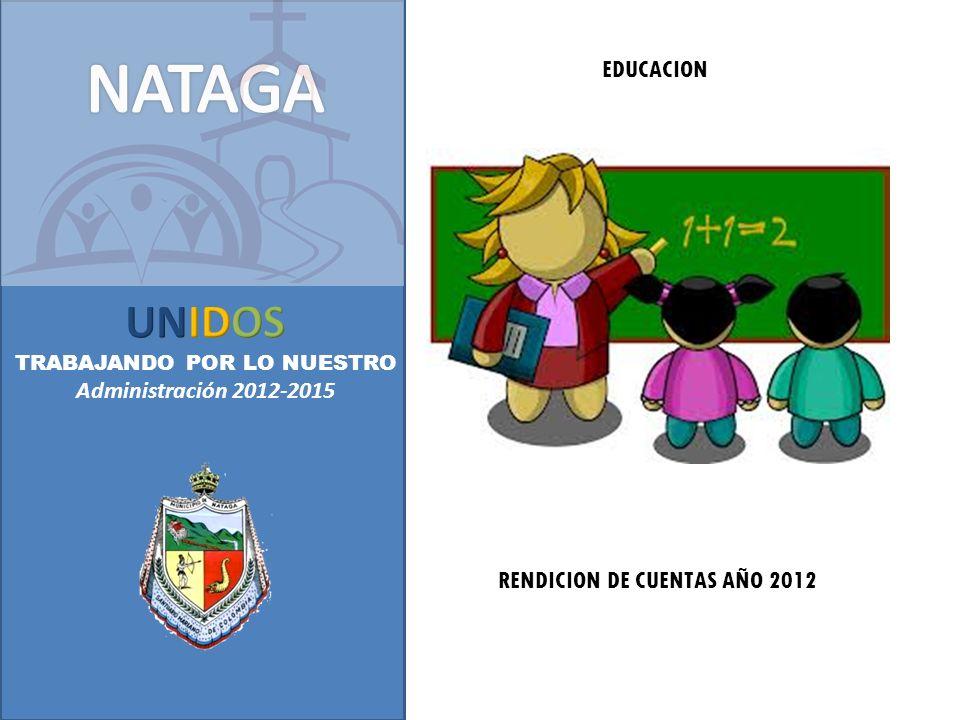 RENDICION DE CUENTAS AÑO 2012 EDUCACION