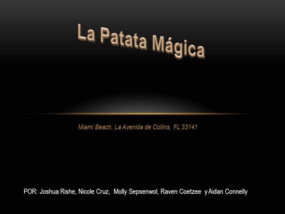 Miami Beach, La Avenida de Collins, FL 33141 POR: Joshua Rishe, Nicole Cruz, Molly Sepsenwol, Raven Coetzee y Aidan Connelly