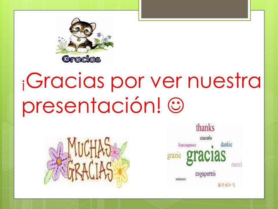 ¡ Gracias por ver nuestra presentación!