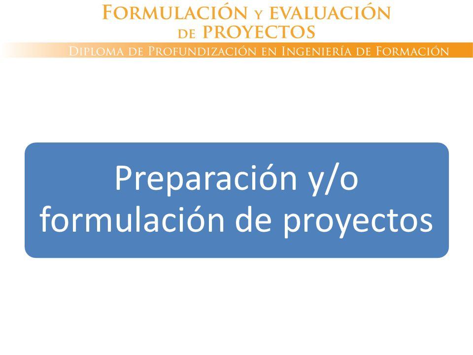 Preparación y/o formulación de proyectos