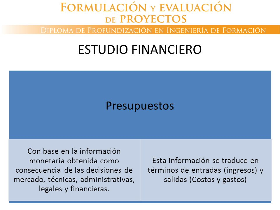 Presupuestos Con base en la información monetaria obtenida como consecuencia de las decisiones de mercado, técnicas, administrativas, legales y financ