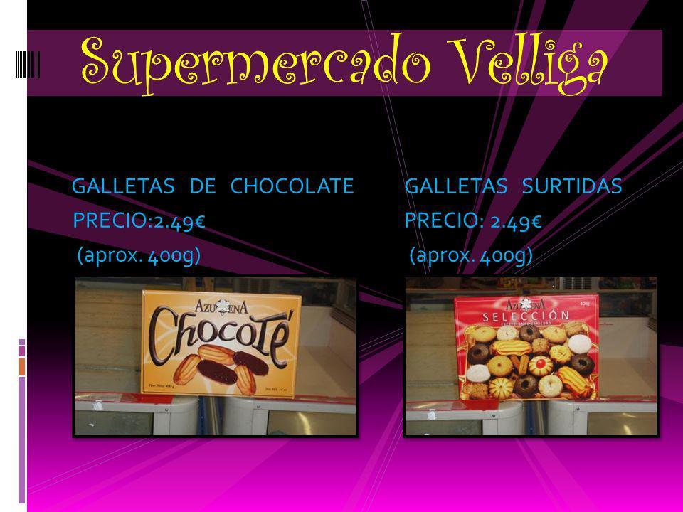 GALLETAS DE CHOCOLATE GALLETAS SURTIDAS PRECIO:2.49 PRECIO: 2.49 (aprox.