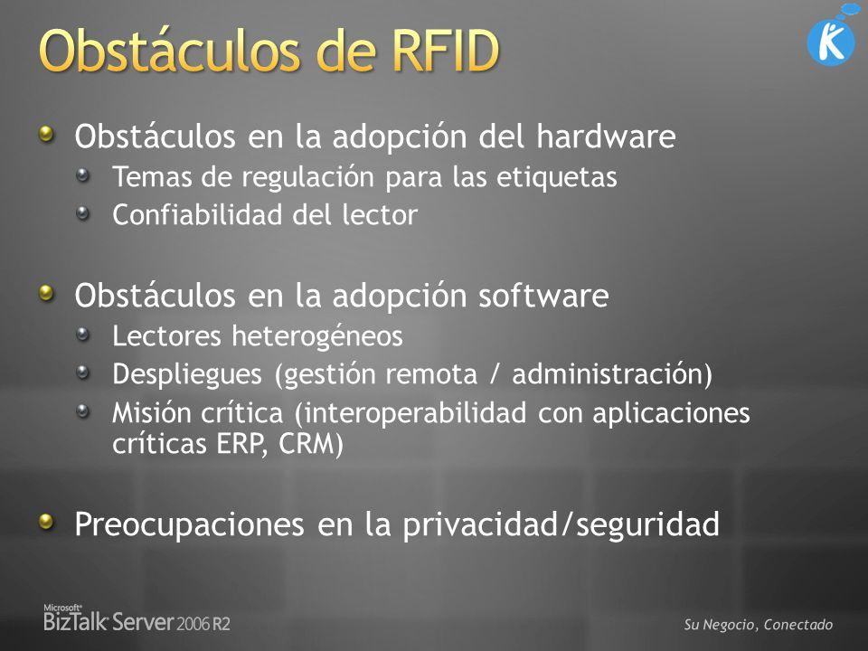 Su Negocio, Conectado Obstáculos en la adopción del hardware Temas de regulación para las etiquetas Confiabilidad del lector Obstáculos en la adopción