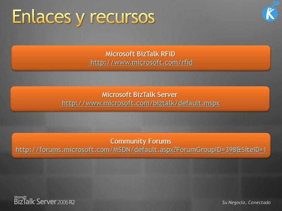 Su Negocio, Conectado Microsoft BizTalk RFID http://www.microsoft.com/rfid http://www.microsoft.com/rfid http://www.microsoft.com/rfid Microsoft BizTa