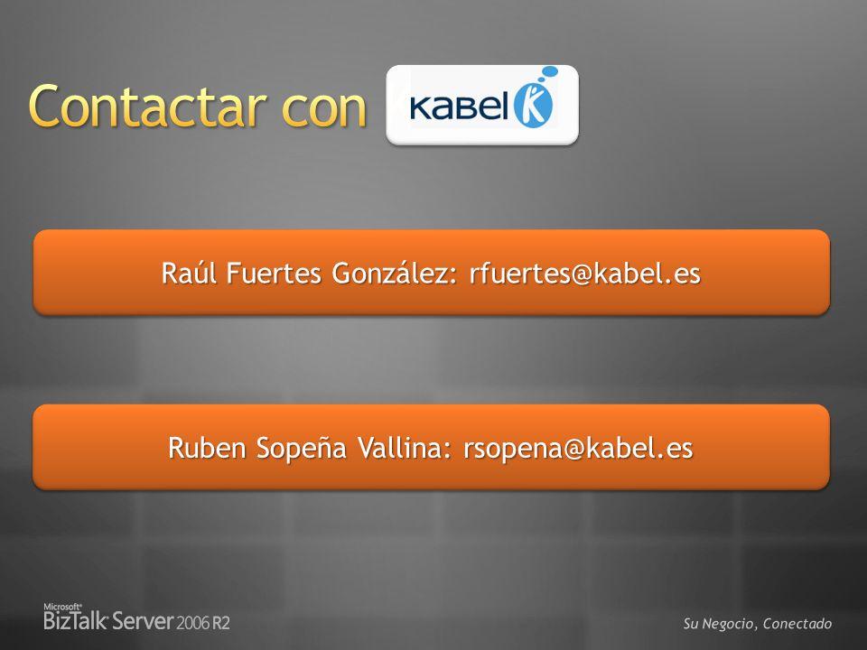 Su Negocio, Conectado Raúl Fuertes González: rfuertes@kabel.es Ruben Sopeña Vallina: rsopena@kabel.es