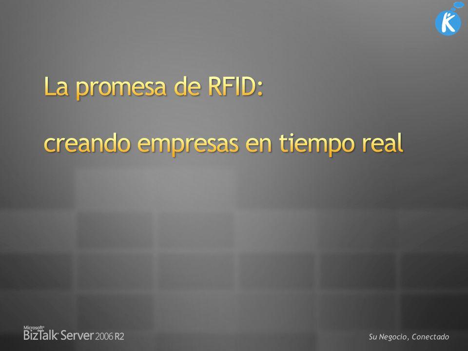 Extremos distribuidos ejecutando BizTalk RFID Capa de Dispositivo Lectores RFID móviles y fijos Banco de scanners PLCs, etc.