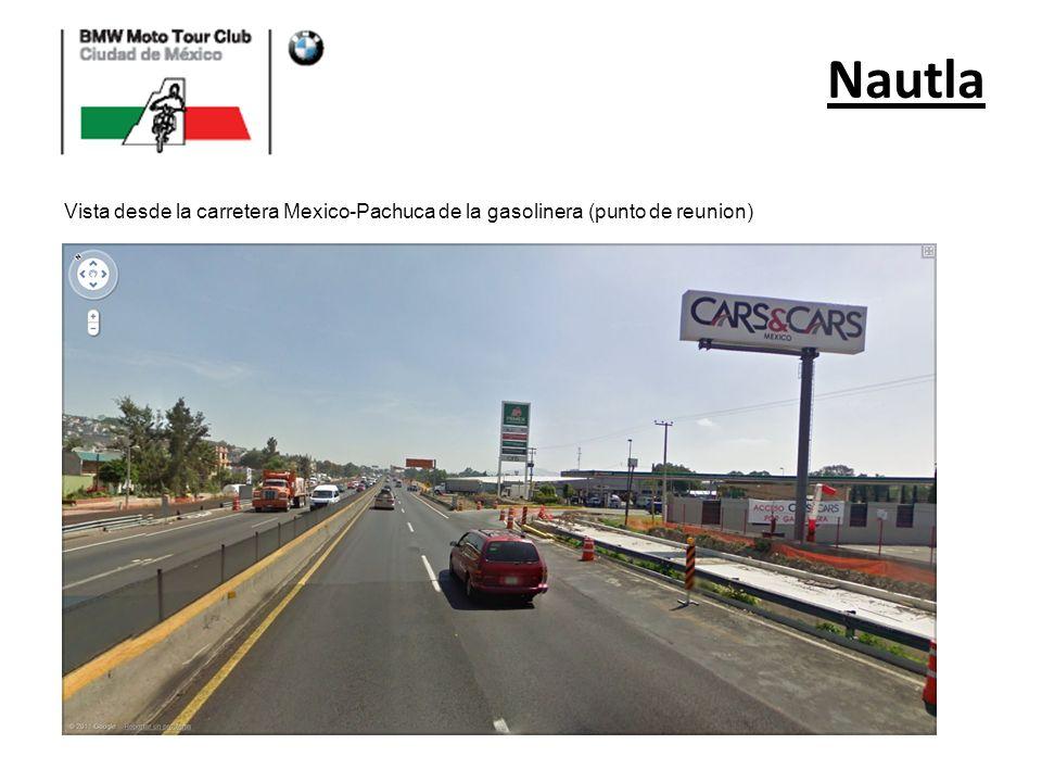 Vista desde la carretera Mexico-Pachuca de la gasolinera (punto de reunion)