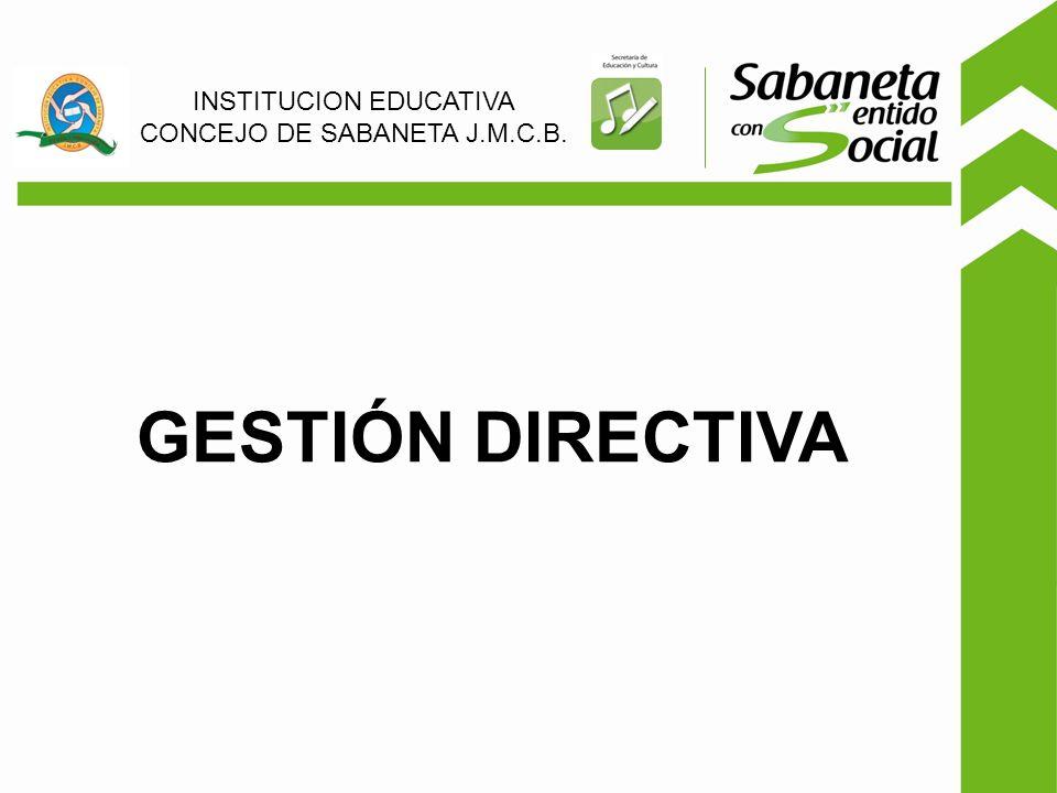 GESTIÓN DIRECTIVA INSTITUCION EDUCATIVA CONCEJO DE SABANETA J.M.C.B.