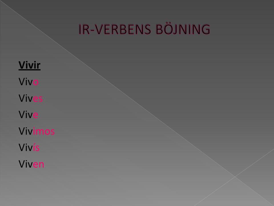 Självklart så finns det förutom regelbundna verb också oregelbundna verb i spanskan.