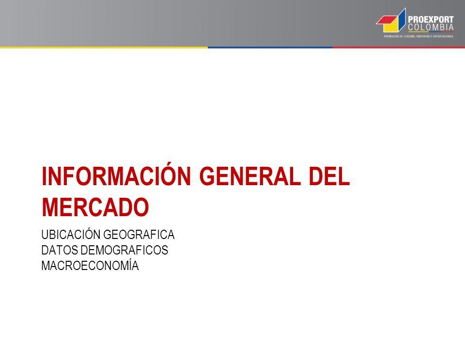 UBICACIÓN GEOGRAFICA DATOS DEMOGRAFICOS MACROECONOMÍA INFORMACIÓN GENERAL DEL MERCADO
