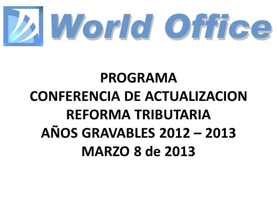 IMPUESTO NACIONAL AL CONSUMO.20-Feb-201392 ACTUALIZACIÓN Y REFORMA TRIBUTARIA 2012-2013.