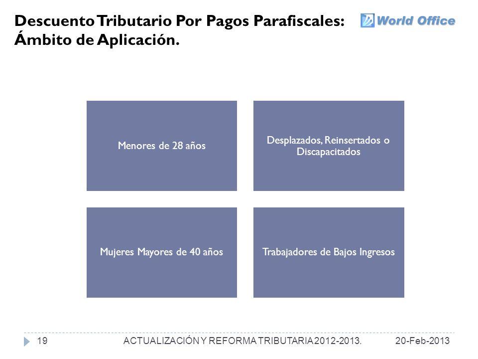 Descuento Tributario Por Pagos Parafiscales: Ámbito de Aplicación.