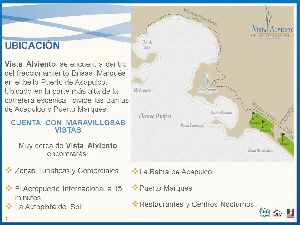 UBICACIÓN Vista Alviento, se encuentra dentro del fraccionamiento Brisas Marqués en el bello Puerto de Acapulco. Ubicado en la parte más alta de la ca