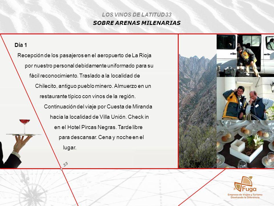 Día 2 Desayuno temprano en el lugar y traslado hacia el Parque Nacional Talampaya por Cuesta de Miranda.