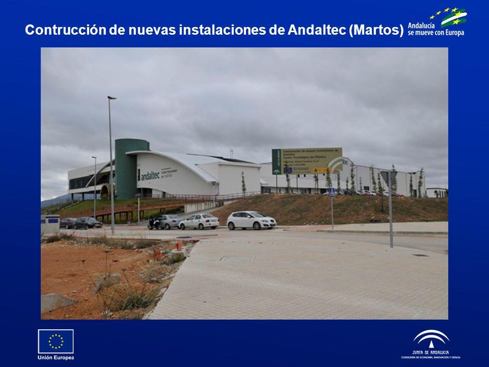 Contrucción de nuevas instalaciones de Andaltec (Martos)