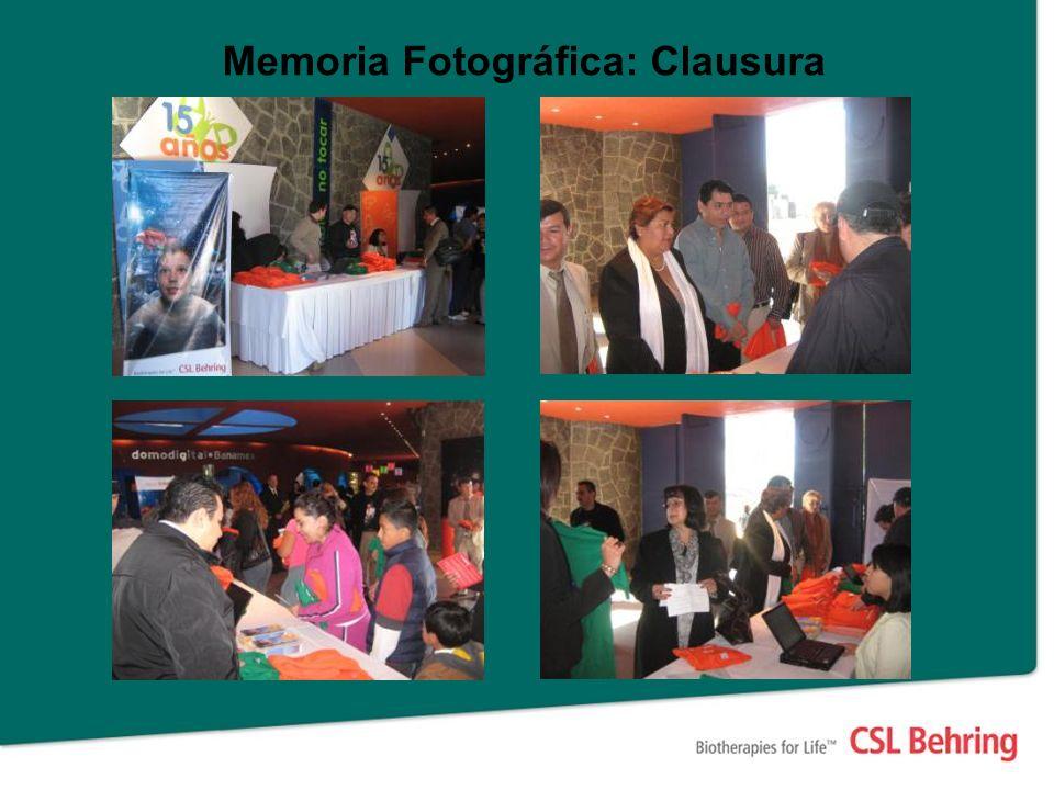 Memoria Fotográfica: Clausura