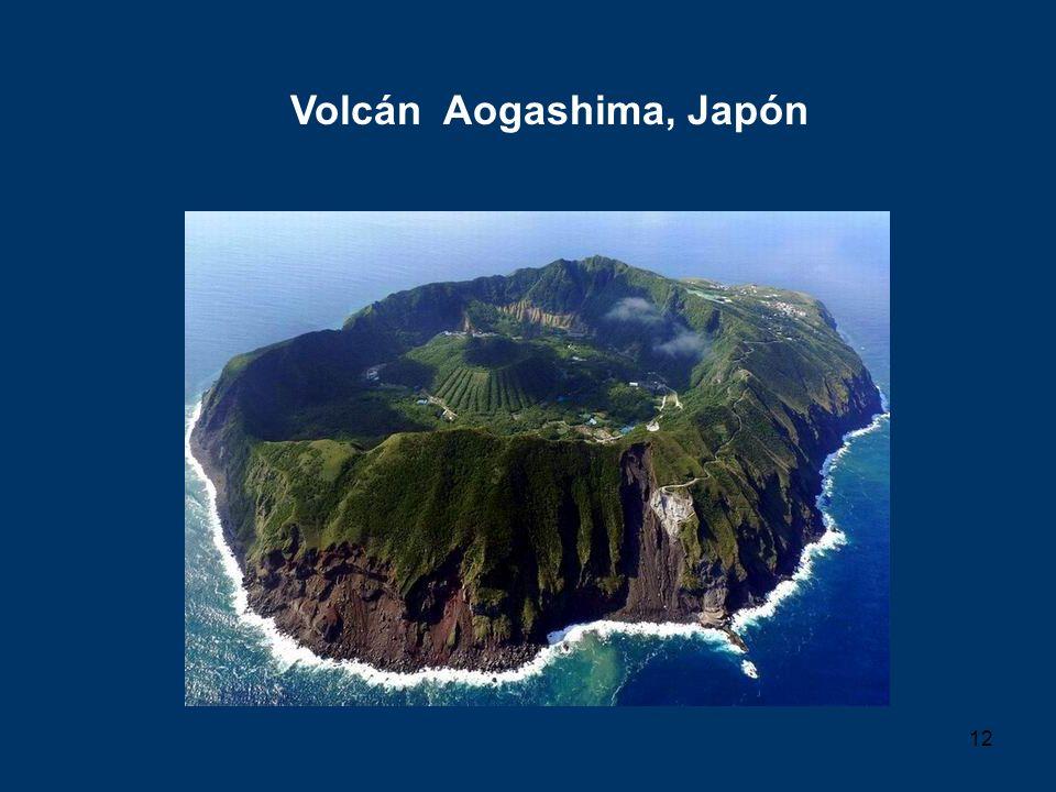 12 Volcán Aogashima, Japón