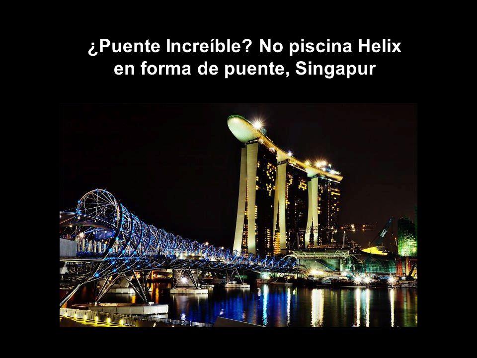 16 ¿Puente Increíble? No piscina Helix en forma de puente, Singapur