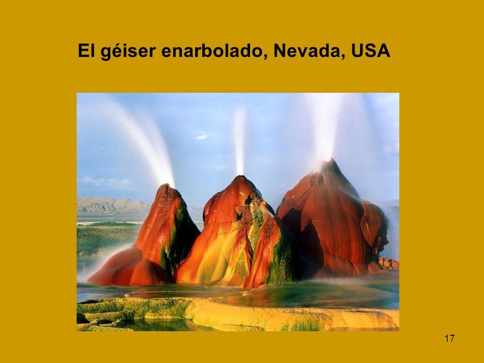 17 El géiser enarbolado, Nevada, USA