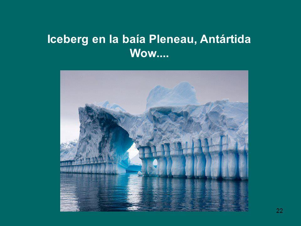22 Iceberg en la baía Pleneau, Antártida Wow....