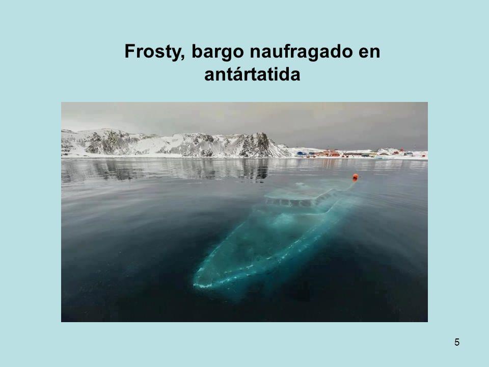 5 Frosty, bargo naufragado en antártatida