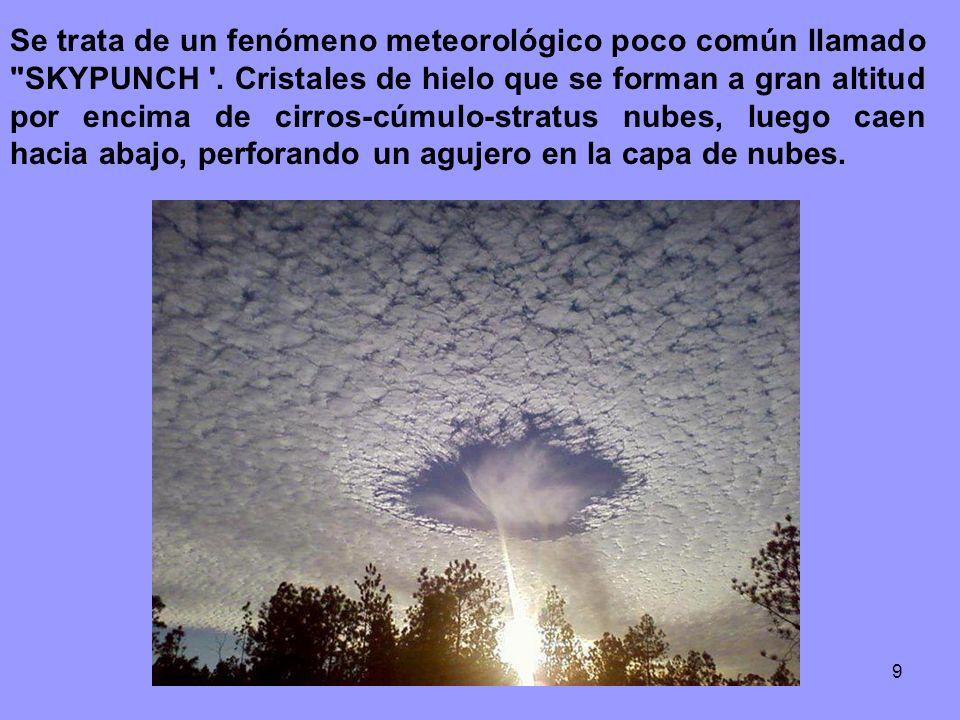 9 Se trata de un fenómeno meteorológico poco común llamado