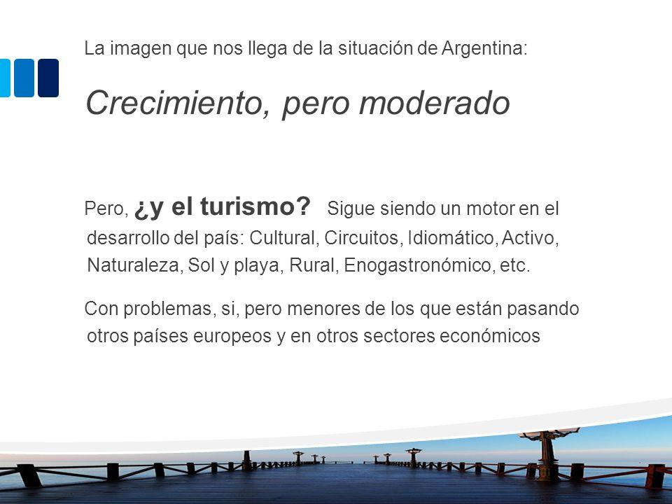 La imagen que nos llega de la situación de Argentina: Crecimiento, pero moderado Pero, ¿y el turismo? Sigue siendo un motor en el desarrollo del país: