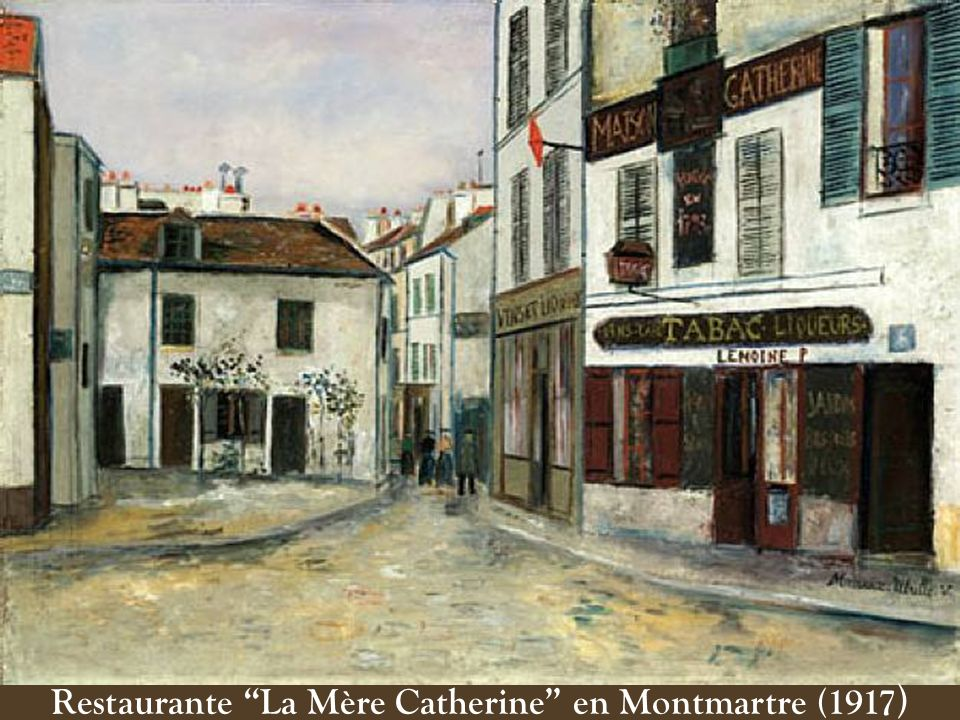 Restaurante La Mère Catherine en Montmartre (1917 )