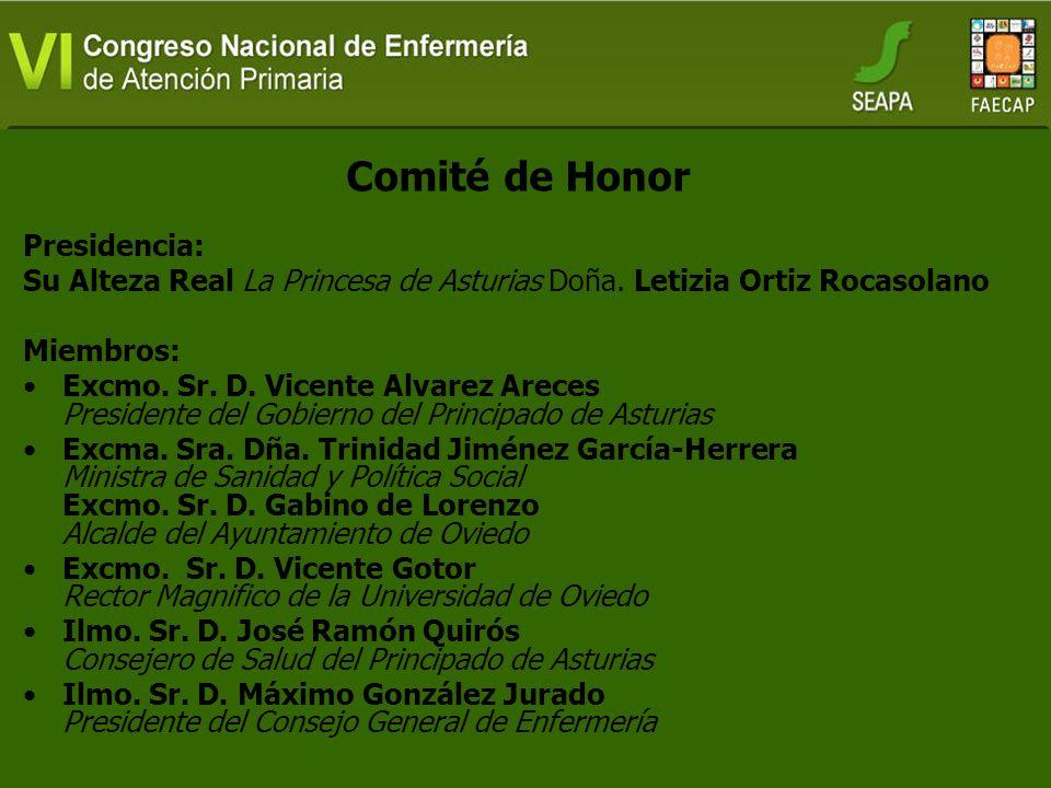 Comité de Honor Presidencia: Su Alteza Real La Princesa de Asturias Doña.