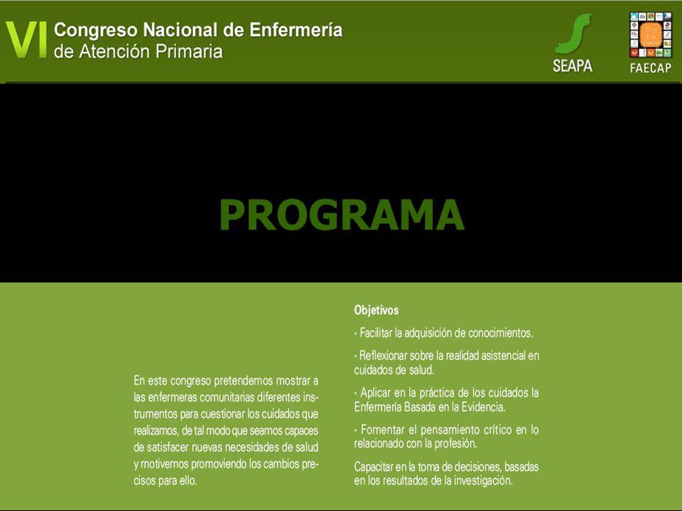 Comité Científico Presidenta: Ana Covadonga González Pisano (SEAPA) Vicepresidente: Enrique Oltra Rodríguez (SEAPA) Vocales: Paquita García Padilla (A