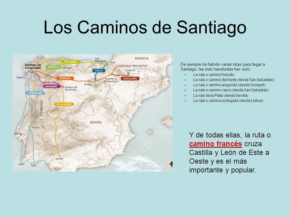 Los Caminos de Santiago De siempre ha habido varias rutas para llegar a Santiago, las más transitadas han sido: –La ruta o camino francés –La ruta o c
