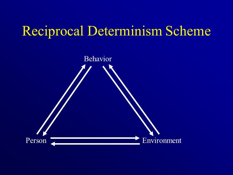 Reciprocal Determinism Scheme Behavior PersonEnvironment