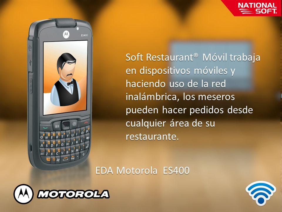 Soft Restaurant® Móvil trabaja en dispositivos móviles y haciendo uso de la red inalámbrica, los meseros pueden hacer pedidos desde cualquier área de