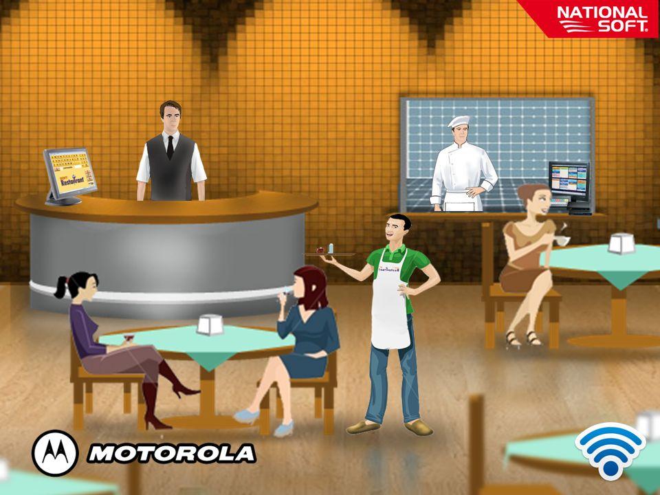 El mesero atiende al comensal y puede levantar la órden desde la mesa por medio de la comandera inalámbrica, sin la necesidad de ir a la cocina o barra.