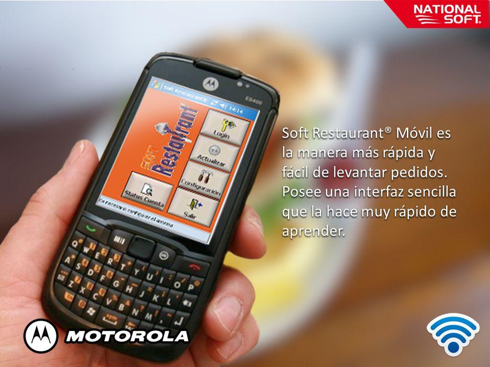 Soft Restaurant® Móvil es la manera más rápida y fácil de levantar pedidos. Posee una interfaz sencilla que la hace muy rápido de aprender.