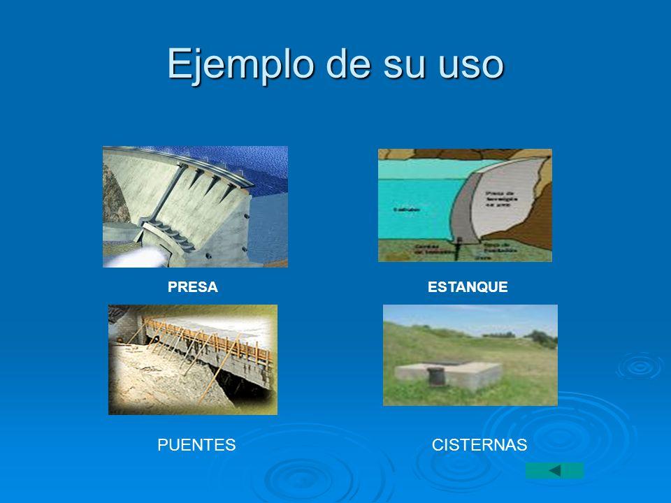 Ejemplo de su uso PRESA ESTANQUE PUENTES CISTERNAS