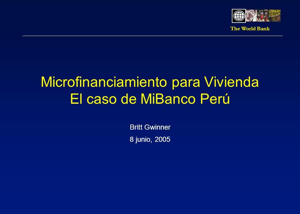 The World Bank Microfinanciamiento para vivienda 11 Tasas para vivienda son menos que otros productos