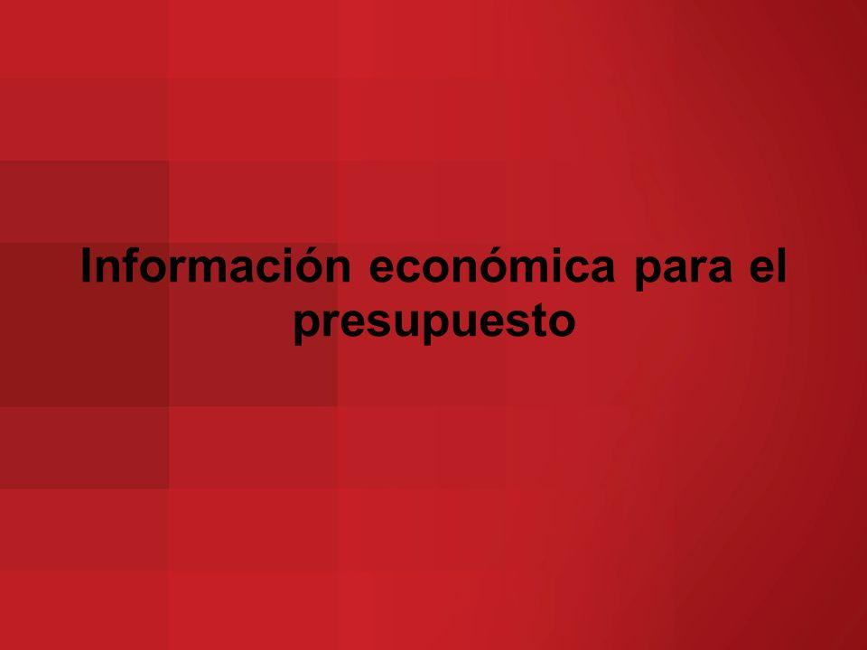 Información económica para el presupuesto
