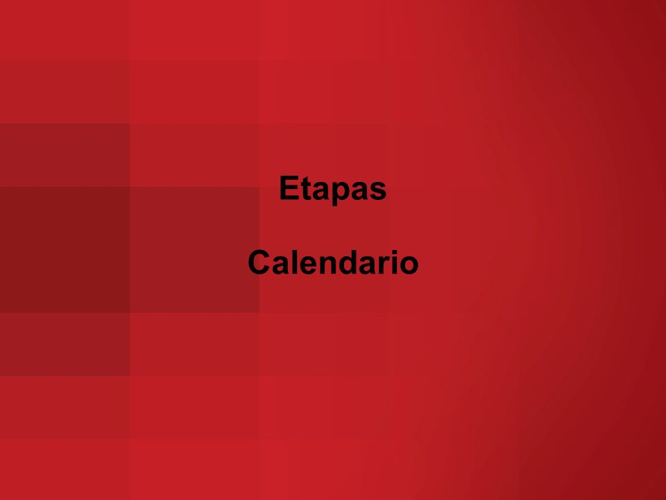 Etapas Calendario