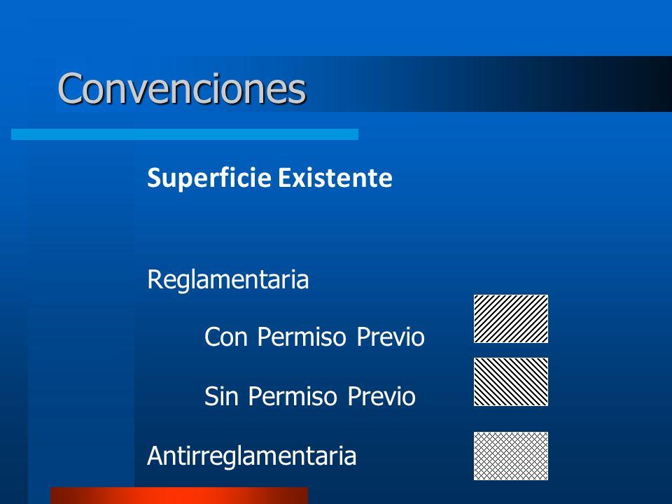 Convenciones Superficie Existente Reglamentaria Con Permiso Previo Sin Permiso Previo Antirreglamentaria