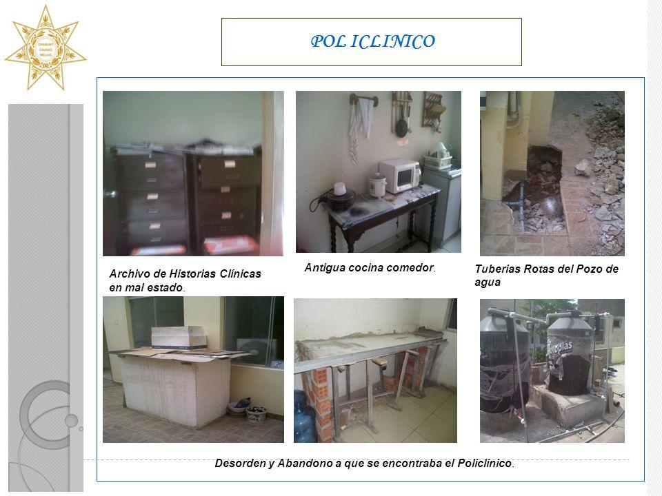 POL ICLINICO Archivo de Historias Clínicas en mal estado.