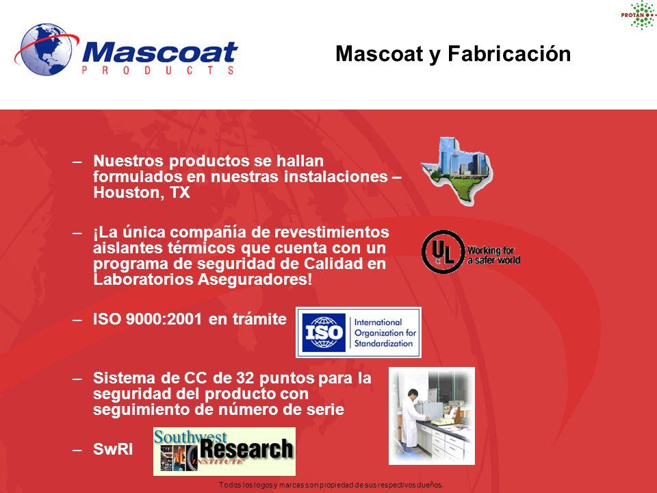 Mascoat y Fabricación –Nuestros productos se hallan formulados en nuestras instalaciones – Houston, TX –¡La única compañía de revestimientos aislantes