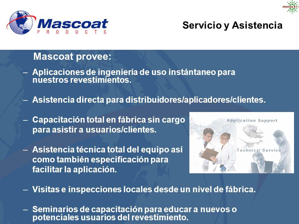 –Aplicaciones de ingeniería de uso instántaneo para nuestros revestimientos. –Asistencia directa para distribuidores/aplicadores/clientes. –Capacitaci