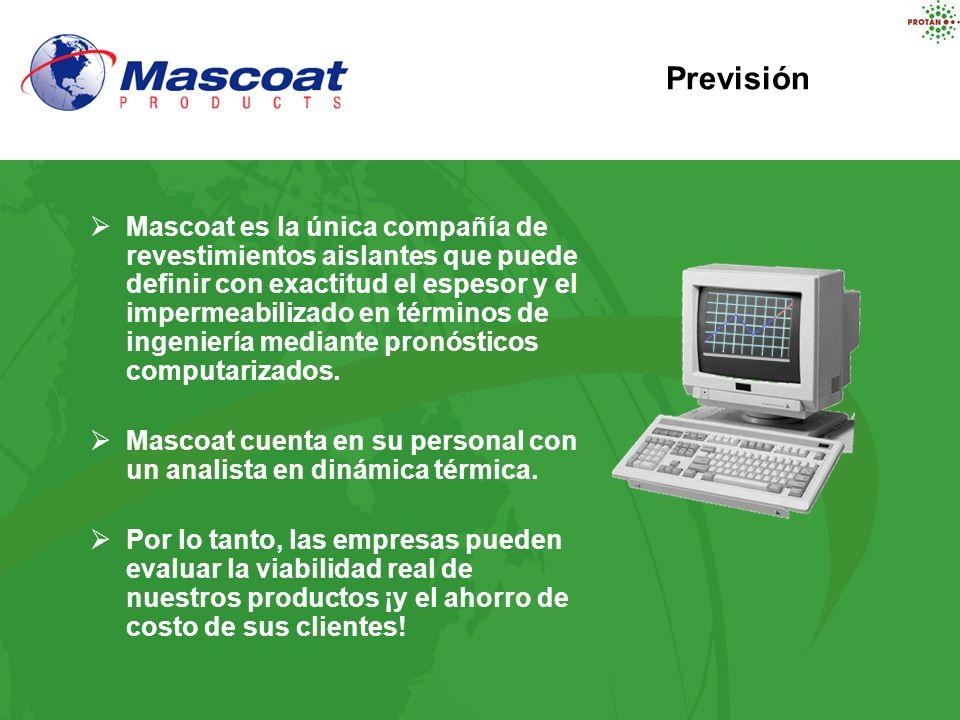 Mascoat es la única compañía de revestimientos aislantes que puede definir con exactitud el espesor y el impermeabilizado en términos de ingeniería me