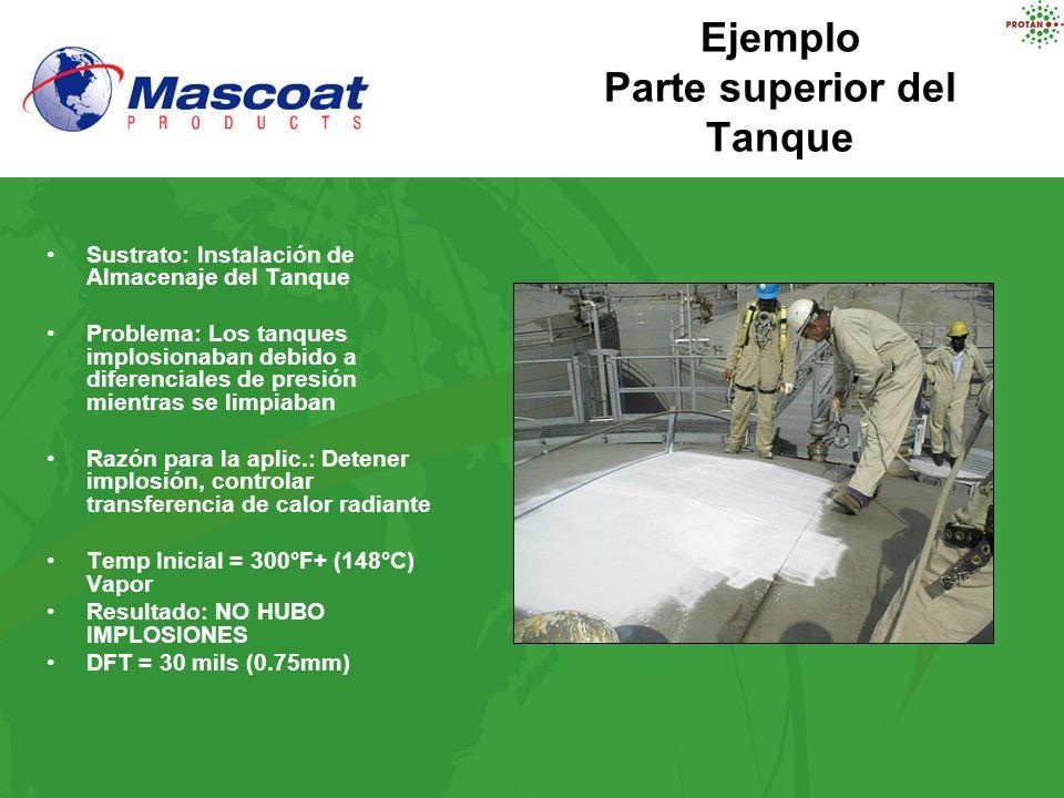 Ejemplo Parte superior del Tanque Sustrato: Instalación de Almacenaje del Tanque Problema: Los tanques implosionaban debido a diferenciales de presión