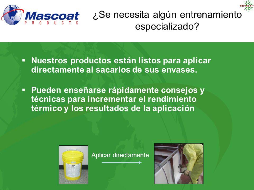 Nuestros productos están listos para aplicar directamente al sacarlos de sus envases. Pueden enseñarse rápidamente consejos y técnicas para incrementa