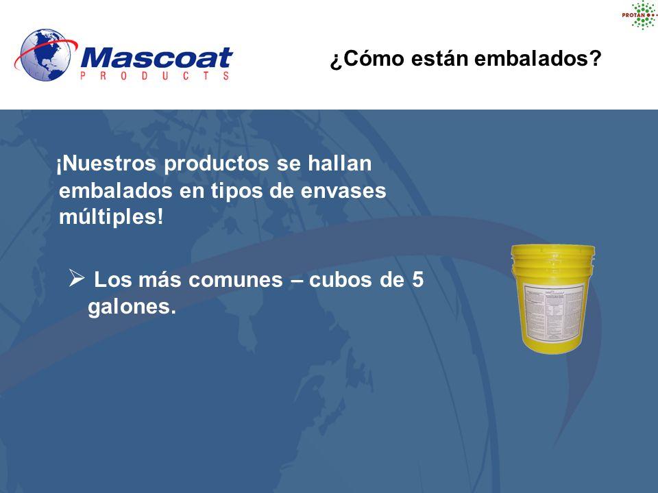 ¡Nuestros productos se hallan embalados en tipos de envases múltiples! Los más comunes – cubos de 5 galones. ¿Cómo están embalados?