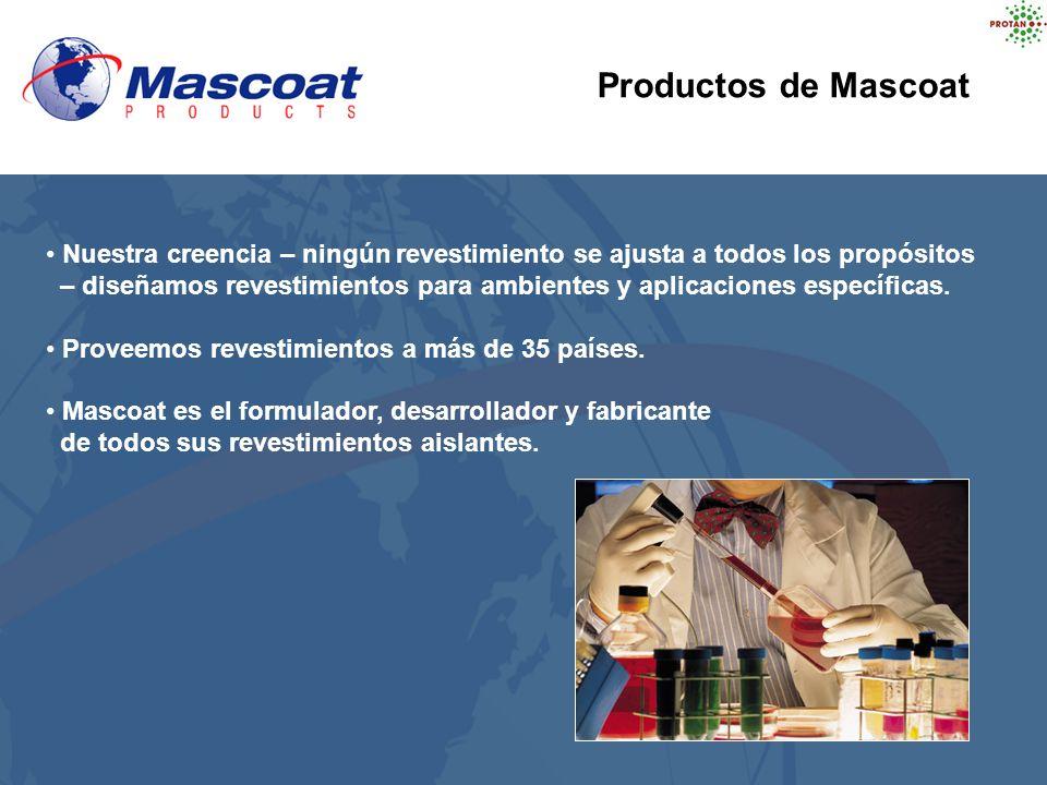 Productos de Mascoat Nuestra creencia – ningún revestimiento se ajusta a todos los propósitos – diseñamos revestimientos para ambientes y aplicaciones